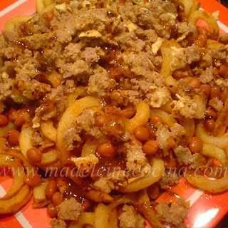 Potato and Bean French Fries.