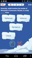 Screenshot of PowerVocab Word Game