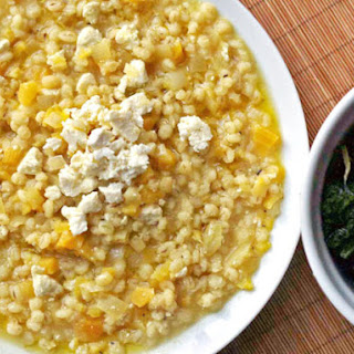 "Golden Beet Barley ""Risotto"" with Ricotta Salata"