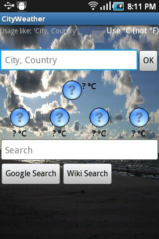 City - Weather - screenshot