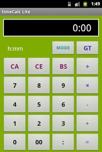 timeCalc Lite- screenshot thumbnail