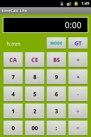 timeCalc Lite- screenshot