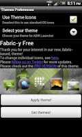 Screenshot of Fabric-y ADW/LP Theme Free