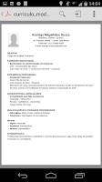 Screenshot of Curriculum vitae,resume