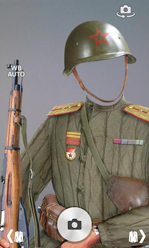 Military portrait photomontage