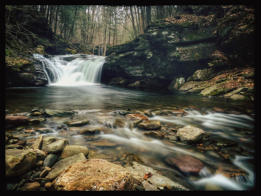 Lower Twin Falls by Aaron Campbell - Instagram & Mobile iPhone ( heberlyrun, iphone5s, waterfall, slowshutter, pennsylvania, spring, sullivancounty, iphoneography, nature, appleiphone, lowertwinfalls, stategamelandsnumber13, sgl13,  )