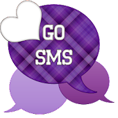 GO SMS - Purple Plaid 2