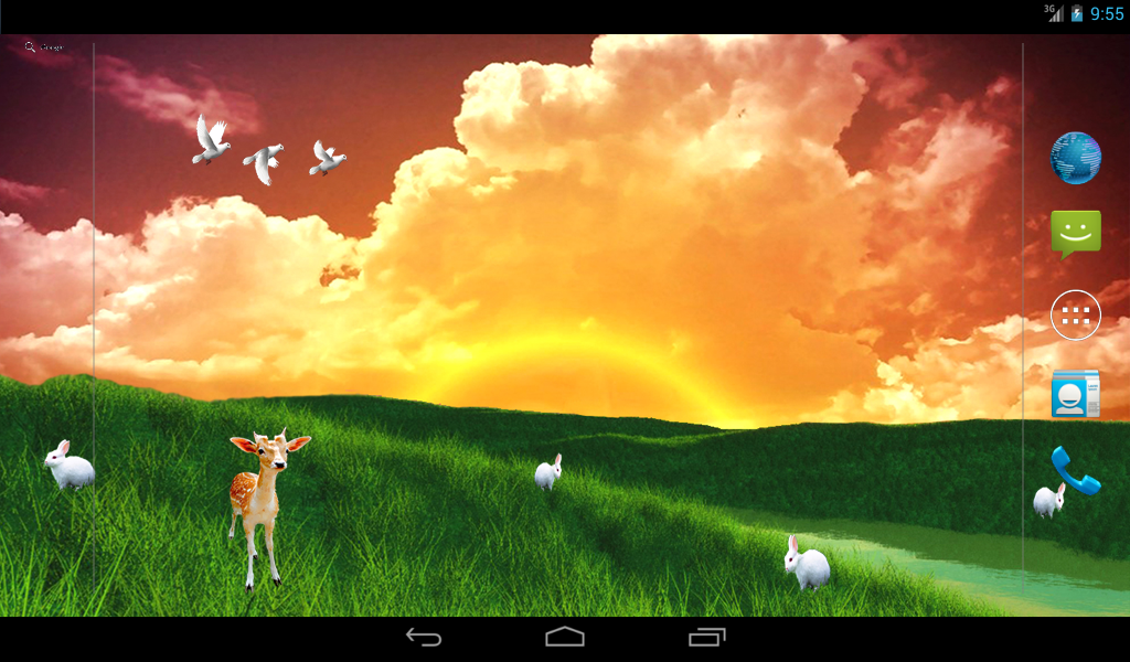 S5 Grass Land Live Wallpaper- screenshot