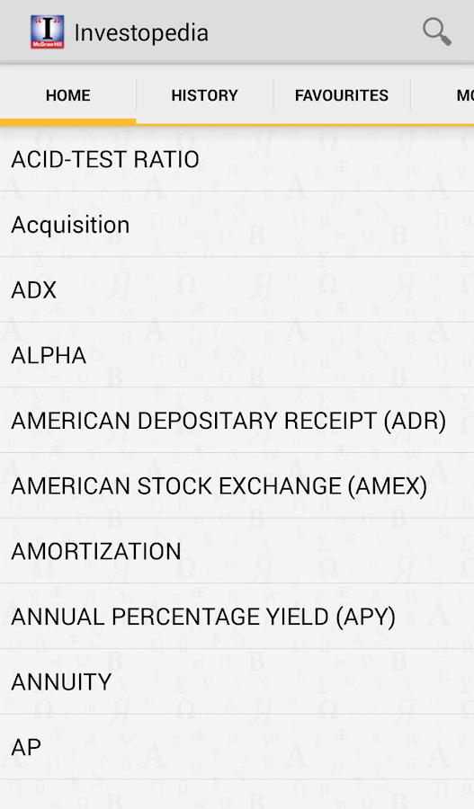The (I) Investopedia Guide- screenshot