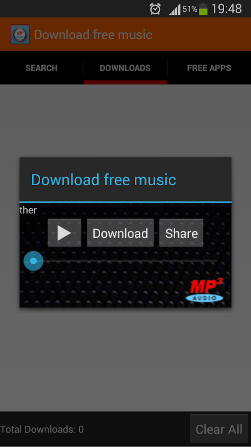 Download free music app - screenshot