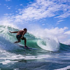 Charging Bowls by Jason Rose - Sports & Fitness Surfing ( surfing, oahu, hawaii, waikiki, bowls )
