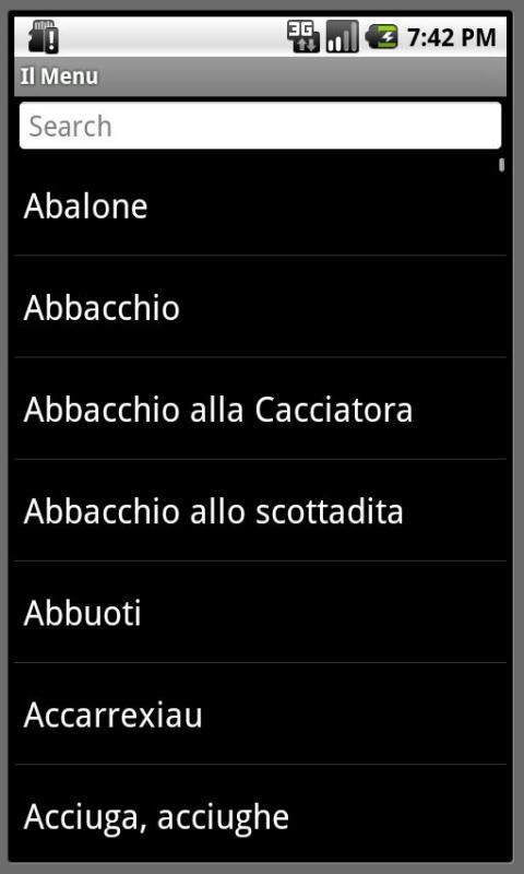 Il Menu- screenshot