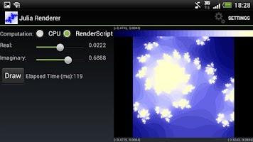 Screenshot of Julia set fractal renderer