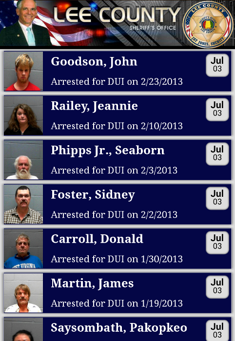 Lee County Sheriff's Office - screenshot