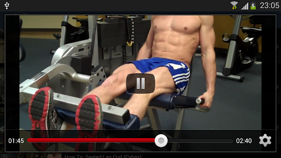 健身器械練習示範
