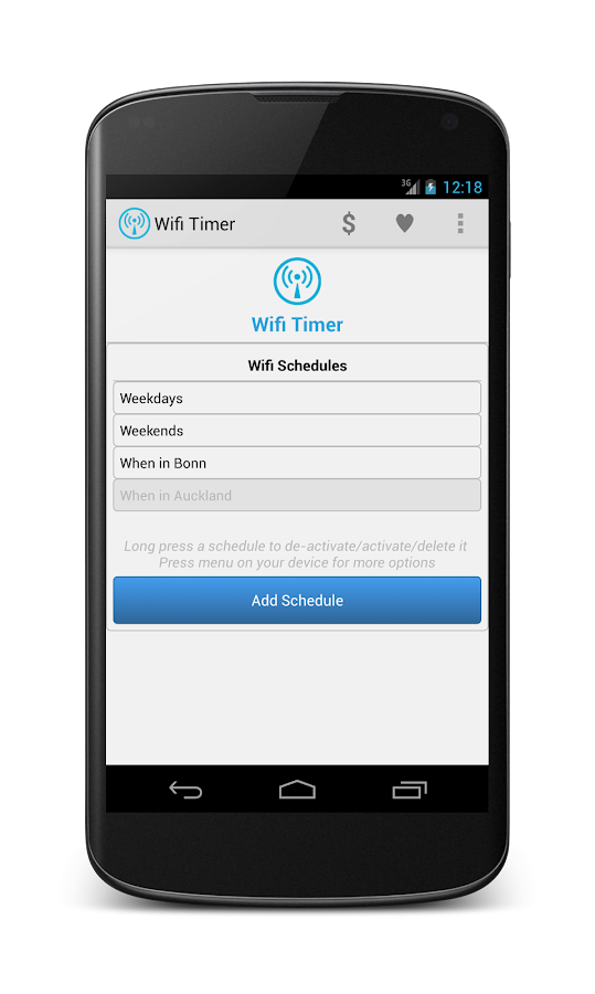 Wifi Timer- screenshot
