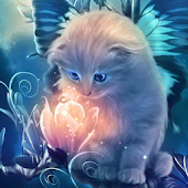 Kitty and Magic LiveWallpapers
