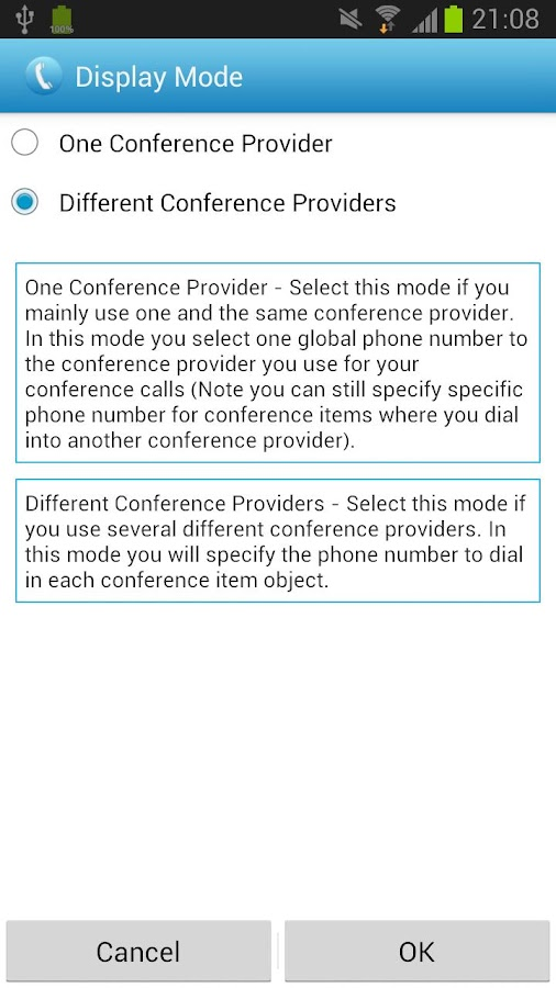 Conference Caller- screenshot
