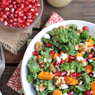 Kale Salad with Maple Almond Dressing