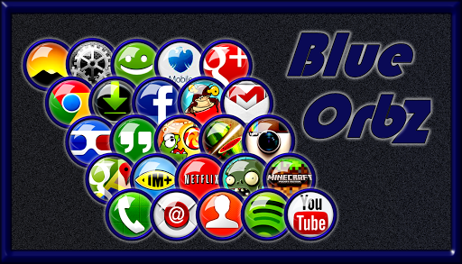 Blue Orbz Icon Pack