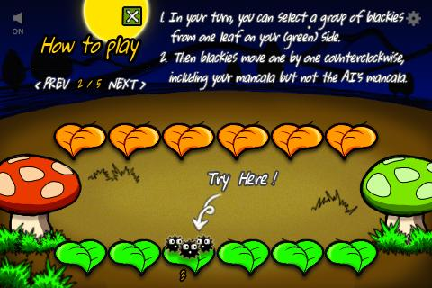 Mancala blackies- screenshot