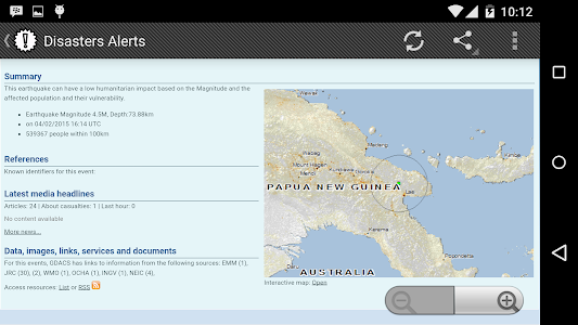 Disasters Alerts screenshot 2