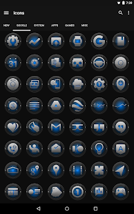 Black and Blue - Icon Pack- screenshot thumbnail