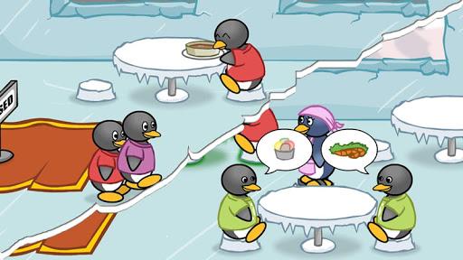 Penguin Cooking Dinner