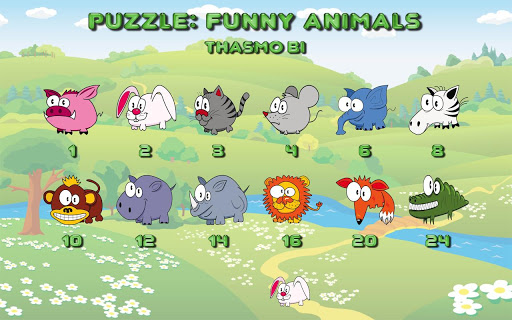 Funny animal puzzle HD