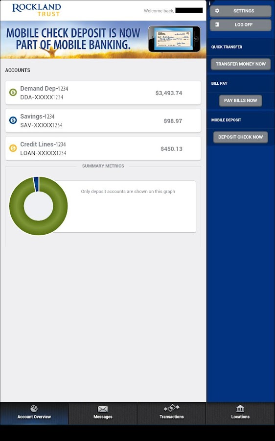 Rockland Trust Mobile Banking- screenshot