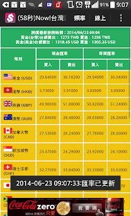 Now 台灣匯率 含黃金價格