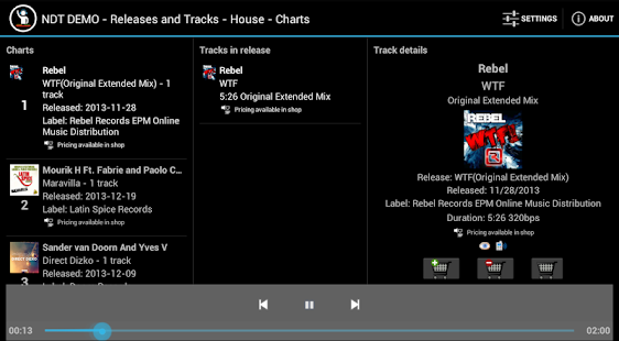 New Dance Tracks Demo - screenshot thumbnail