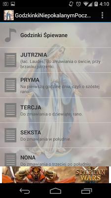 Godzinki Niepokalanym Poczeciu - screenshot