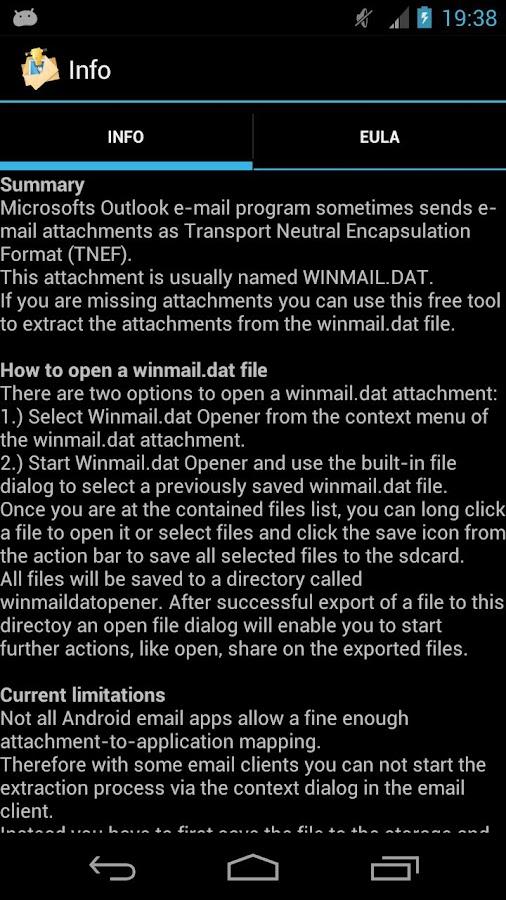 Winmail.dat Opener - screenshot