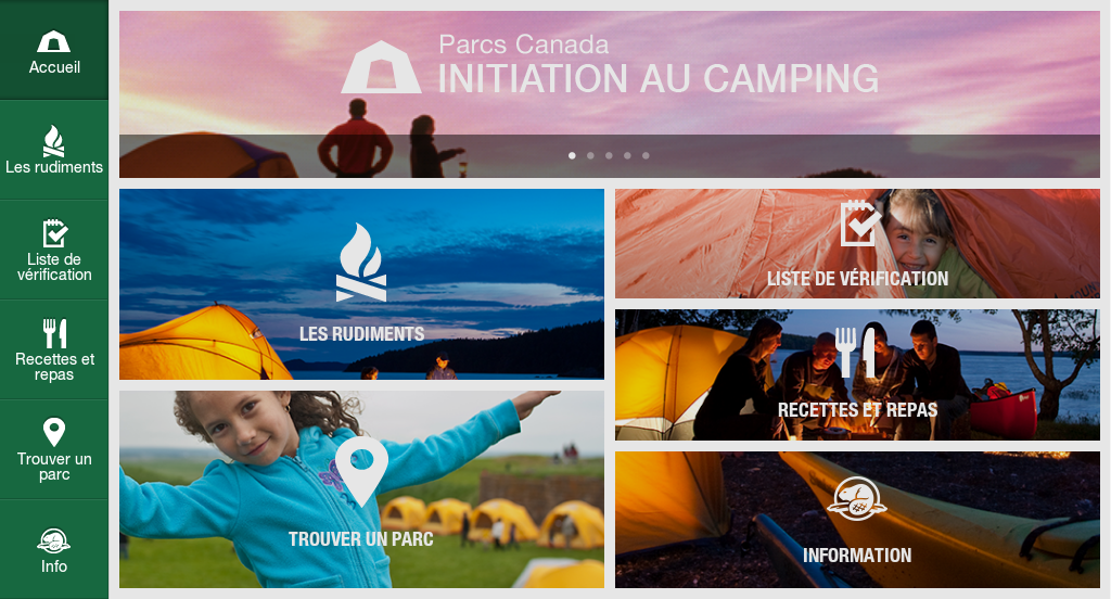 Initiation au camping - screenshot