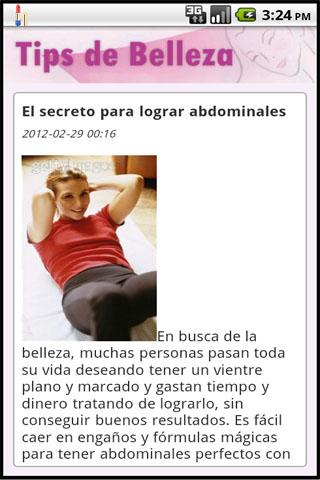 Tips de Belleza - screenshot