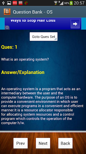 【免費教育App】Operating System Question Bank-APP點子