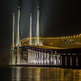 The Second Bridge by Härris McHörrör - Buildings & Architecture Bridges & Suspended Structures ( 2nd bridge, night photography, penang, light show.,  )