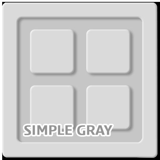 個人化App|簡單的灰色 GO 主題 Simple Gray 圖標包 LOGO-3C達人阿輝的APP