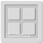Simple Gray Go Adw Apex Theme icon