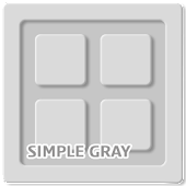 Simple Gray Go Adw Apex Theme