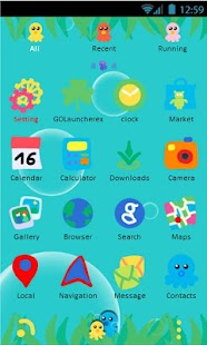 Tako-Tako Go Launcher Theme - screenshot thumbnail