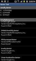 Screenshot of Sensor Test