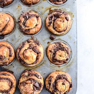 Chocolate Cinnamon Babka Muffins.