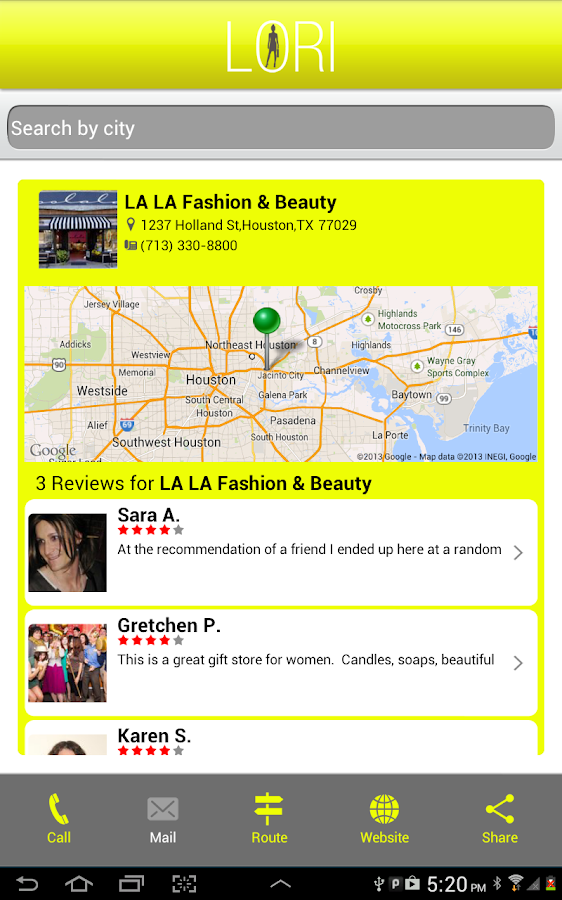 LORI (Find Women's Business)- screenshot