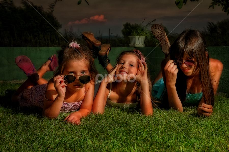 Three  by Stjepan Jozepović - Babies & Children Children Candids ( zrinka, morena, funny, children, kids, petra )