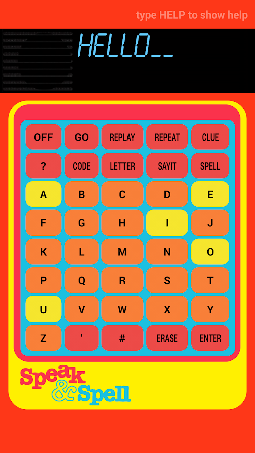 Speak and Spell- screenshot