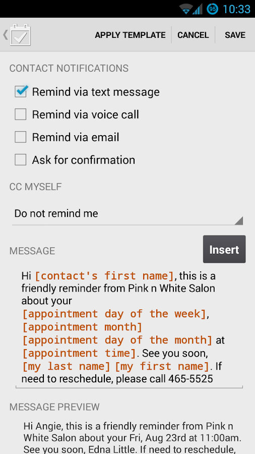 Appointment Keeper - screenshot