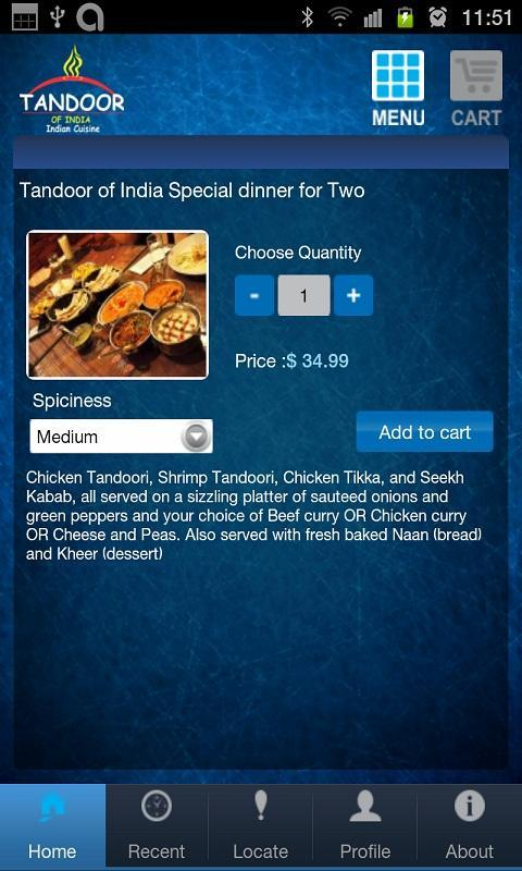 Tandoor of India - screenshot