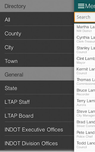 Indiana LTAP Directory